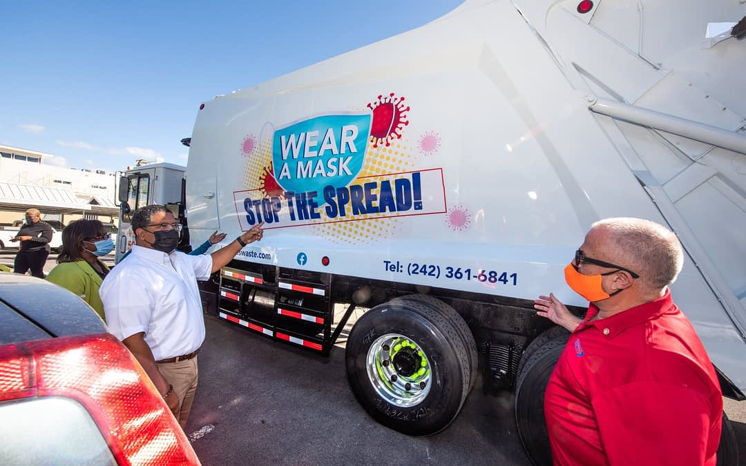 Bahamas Waste Unveils New COVID Safety Truck