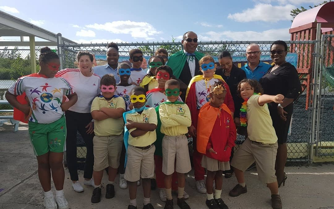 Bahamas Waste GM Takes Message of Neighborhood Heroism to Summit Academy Students